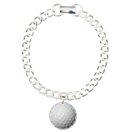 Golf Ball Charm Bracelet, One Charm