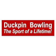 Duckpin Bowling Bumper Bumper Sticker