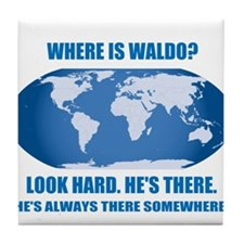 Where's Waldo Tile Coaster
