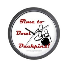 Time To Bowl Duckpin Wall Clock