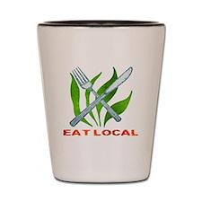 Eat Local Shot Glass