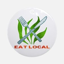 Eat Local Ornament (Round)