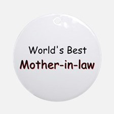 Best Mother-in-law Ornament (Round)