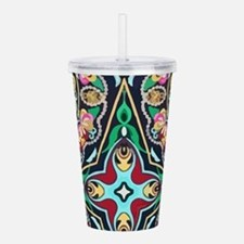 mexican embroidery flo Acrylic Double-wall Tumbler