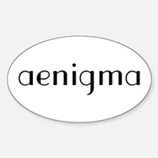 Aenigma Oval Decal