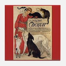 Steinlen Clinique Cheron Ad Art Tile Coaster
