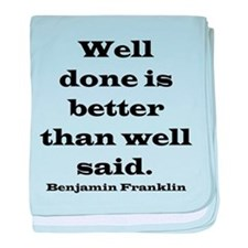 Franklin quote baby blanket