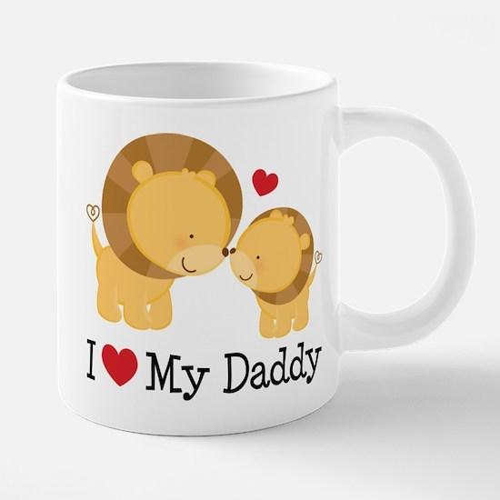 I Heart My Daddy 20 oz Ceramic Mega Mug