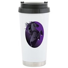 Fresian Horse Ceramic Travel Mug