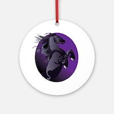 Fresian Horse Ornament (Round)