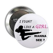Fight Like A Girl 1 Button