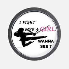 Fight Like A Girl 1 Wall Clock