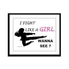 Fight Like A Girl 1 Framed Panel Print