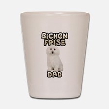 Bichon Frise Dad Shot Glass