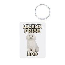 Bichon Frise Dad Keychains