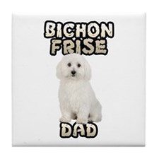 Bichon Frise Dad Tile Coaster