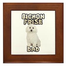 Bichon Frise Dad Framed Tile