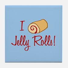 I Love Jelly Rolls Tile Coaster