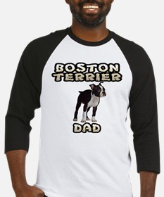 Boston Terrier Dad Baseball Jersey