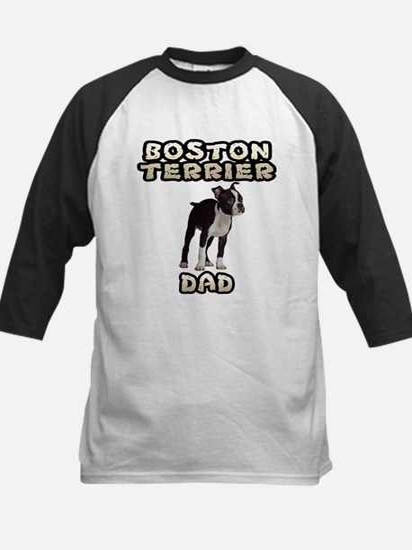 Boston Terrier Dad Kids Baseball Jersey