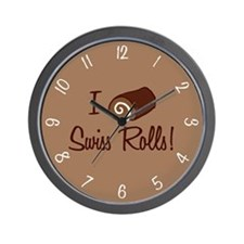I Love Swiss Rolls Wall Clock