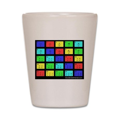 Numbers Shot Glass