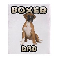 Boxer Dad Throw Blanket