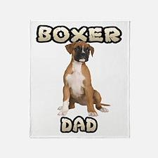Boxer Dad Throw Blanket