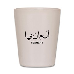 Germany in Arabic Shot Glass