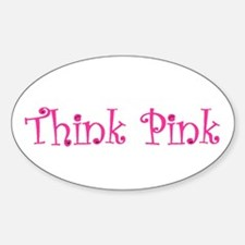 Think Pink Oval Decal