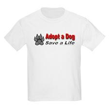 Adopt a dog! Save a life! Kids T-Shirt