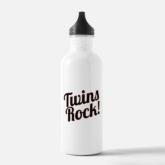 Twins Rock! Water Bottle