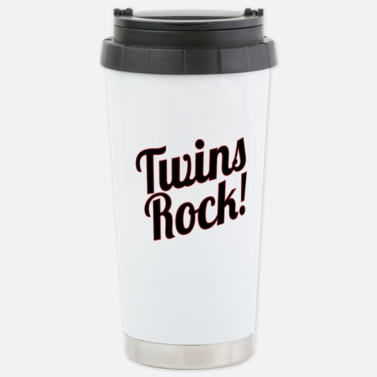 Twins Rock! Stainless Steel Travel Mug