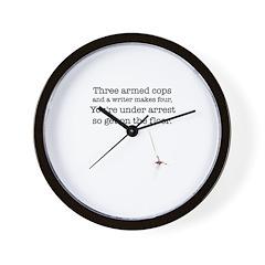 Three armed cops... Wall Clock