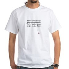 Three armed cops... White T-Shirt