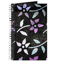 Dye-painted Flowers Journal