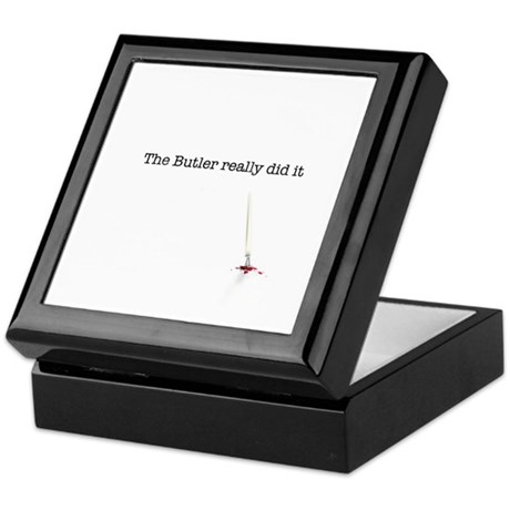 The Butler really did it Keepsake Box