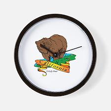 Funny California golden bears womens Wall Clock