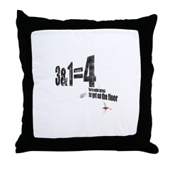 3 + 1 = 4 Throw Pillow