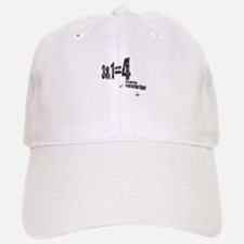 3 + 1 = 4 Baseball Baseball Cap