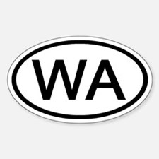 WA - Initial Oval Oval Decal