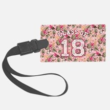 Class of 18 Floral Pink Luggage Tag