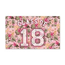 Class of 18 Floral Pink Wall Sticker