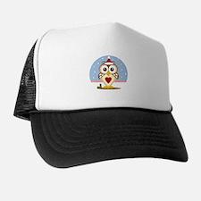 Holiday Santa Owl Trucker Hat
