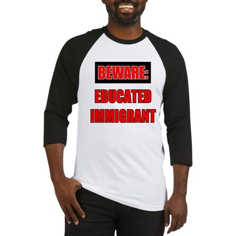EDUCATED IMMIGRANT WHITE Baseball Jersey