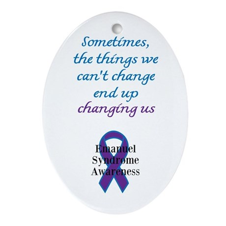 Emanuel Syndrome Awareness Ornament (Oval)