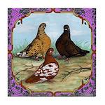 English Shortfaced Pigeons Fr Tile Coaster