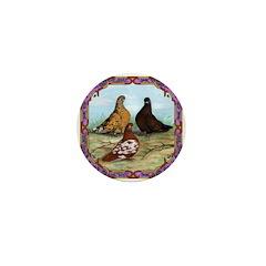 English Shortfaced Pigeons Fr Mini Button (100 pac