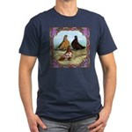 English Shortfaced Pigeons Fr Men's Fitted T-Shirt