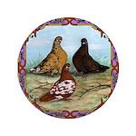"English Shortfaced Pigeons Fr 3.5"" Button"